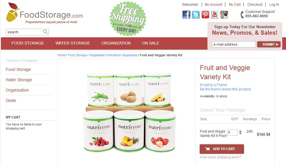 FoodStorage.com Coupons