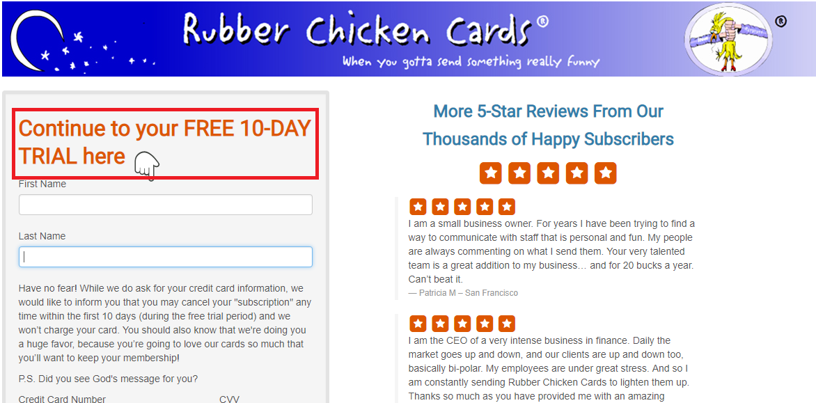 Rubber Chicken Cards Coupons